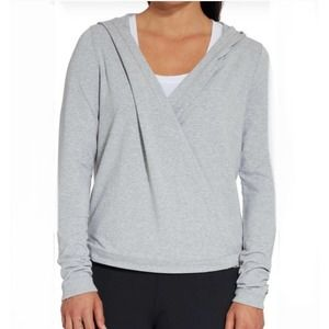 CALIA | Effortless Wrap Snap Hooded Sweatshirt